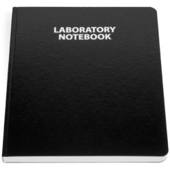 2001 Laboratory Notebook Black